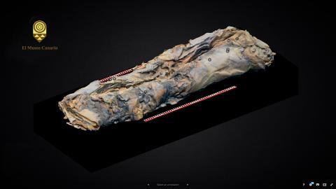 Momia del Museo Canario en 3D
