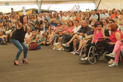 Olga Cerpa y Mestisay en la Feria Insular de Artesanía