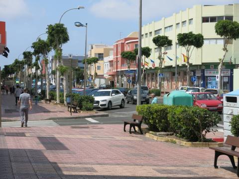 Avenida de Canarias en Santa Lucía