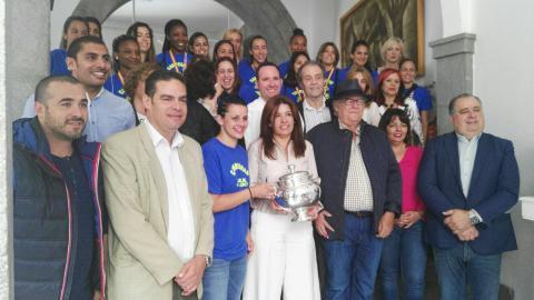Recibimiento del Ayuntamiento de Telde al Rocasa