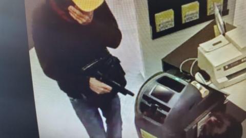 Atracador en un banco