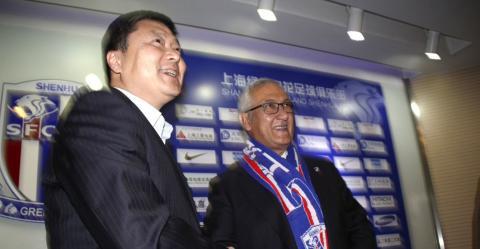 Gregorio Manzano en la presentación del equipo Guizhou Hengfeng Zhicheng de la liga china