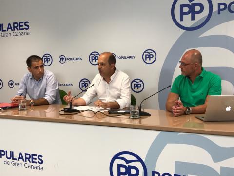Juan José Cardona, Ángel Sabroso y José Miguel Álamo