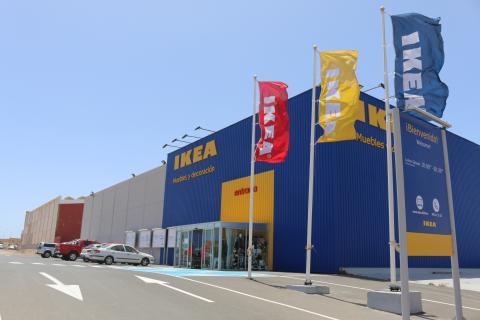 Fachada de una tienda Ikea