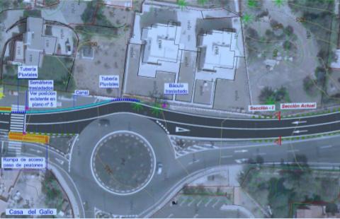 Infografía de cómo quedarán las obras en la carretera de Tafira