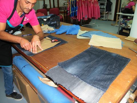 Marcando ropa