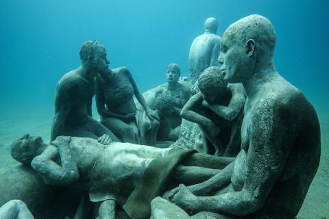 Esculturas en el Museo Atántico de Lanzarote