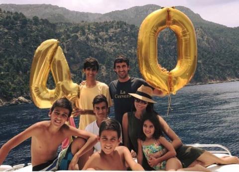 Raúl González y su familia