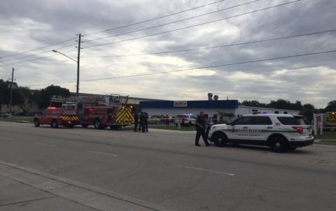Coche de la Policía y Bomberos en un tiroteo en Orlando