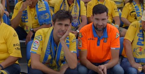 Escena de un vídeo promocional de la UD Las Palmas