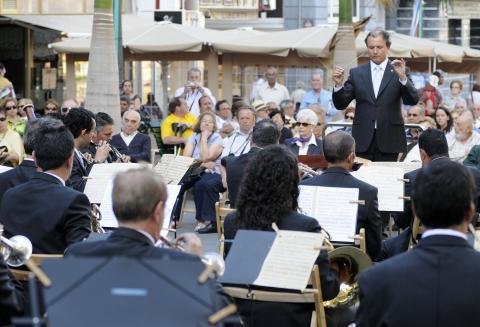Músicos de la Banda Sinfónica de Tenerife