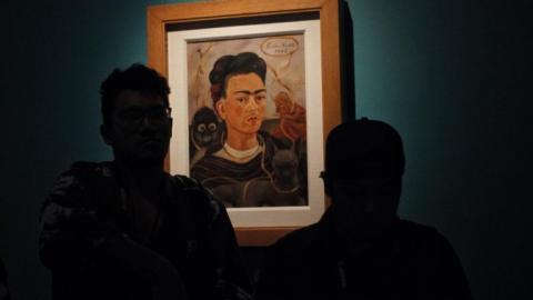 Cuadro en la Exposición de Frida Kahlo