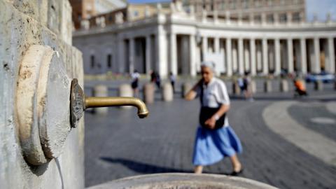 Fuente en el Vaticano