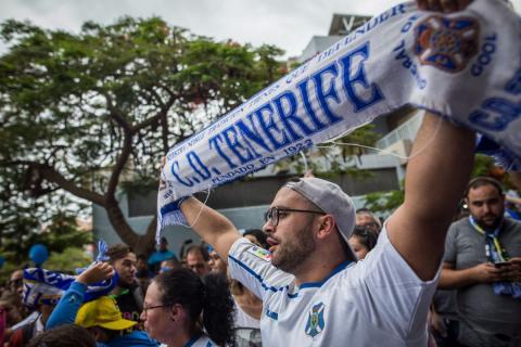 Un aficionado del CD Tenerife