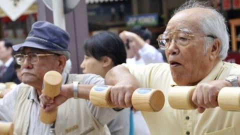 Dos hombres centenarios de Japón