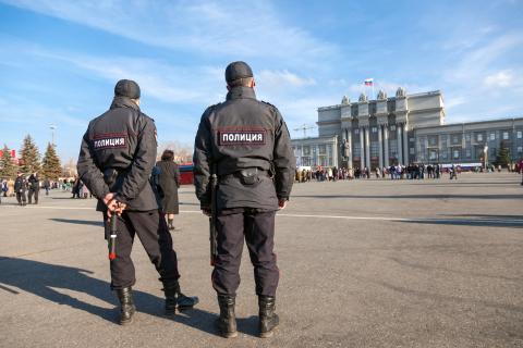 Dos policías rusos
