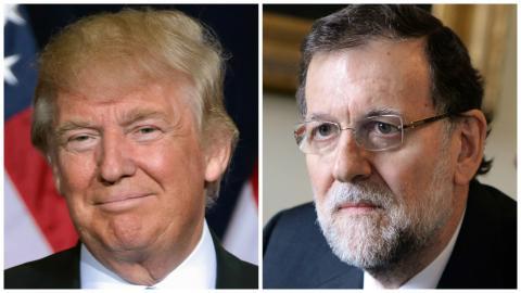 Donald Trump y Mariano Rajoy