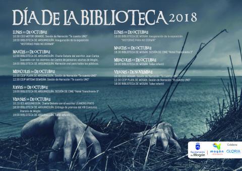 Cartel del Día de la biblioteca de Mogán