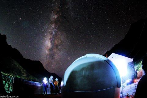 Vía Láctea desde Tasartico, La Aldea