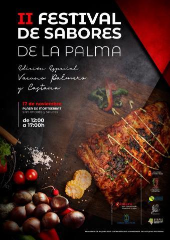 Cartel del Festival de Sabores de La Palma