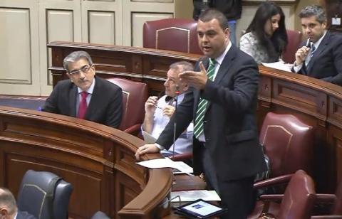 Pedro Rodríguez en el Parlamento