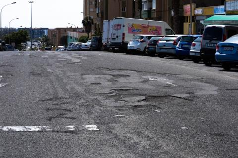 Estado de las calles de Jinámar - Telde