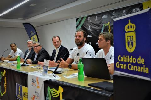 rueda de prensa el Gran Canaria Air Battle Kiteboarding Festival
