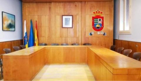 Sala de plenos del Ayuntamiento de Valle Gran Rey