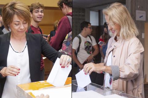 Rosa Aguilar y Gloria Rojas, en las elecciones en primera vuelta