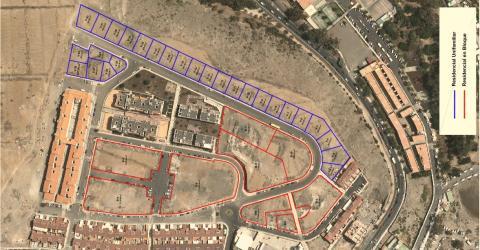 Ubicación de las viviendas de Arguineguín