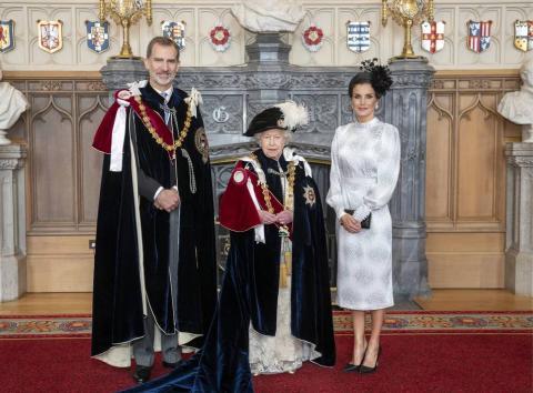Felipe VI, Isabel II y la reina Letizia