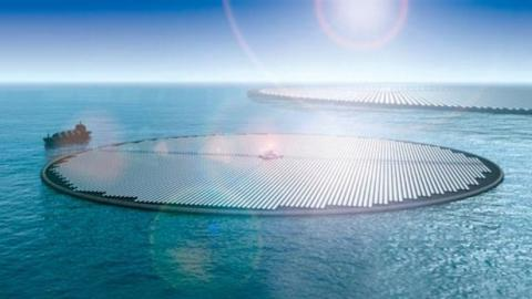 Islas flotantes construidas para reducir el dióxido de carbono