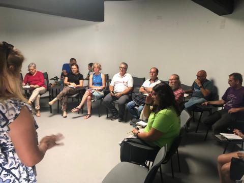 Reunión del voluntariado ambiental de Candelaria