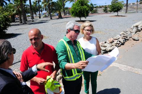 Visita de la alcaldesa Concepción Narváez a las obras
