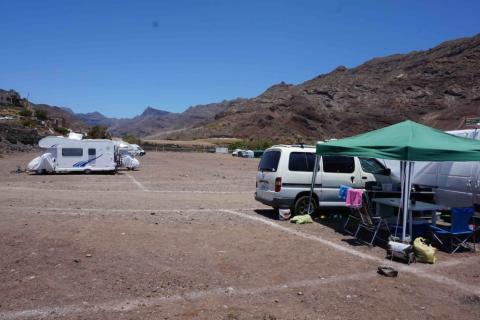Zona de acampada de Tasarte