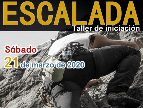 Cartel del taller de escalada de Arucas