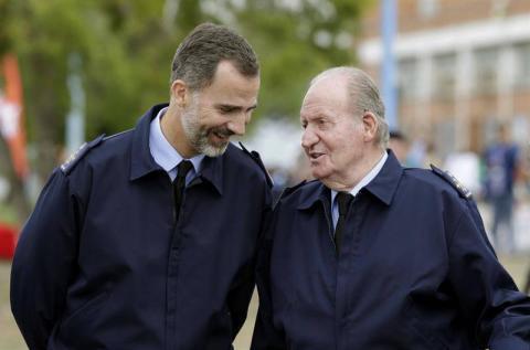 Felipe VI y Juan Carlos