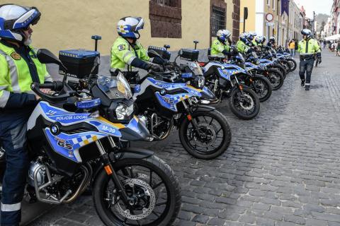 La Policía Local de La Laguna incorpora nueve motocicletas a su parque móvil