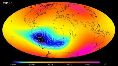 La Agencia Europea Espacial confirman que el campo magnético de la Tierra se debilita