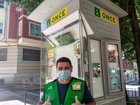 vendedor de la ONCE