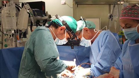 El Hospital Dr. Negrín realiza por vez primera una compleja técnica para tratar una infección cardíaca