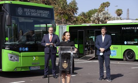 Santa Cruz de Tenerife comienza la renovación de la flota de guaguas urbanas