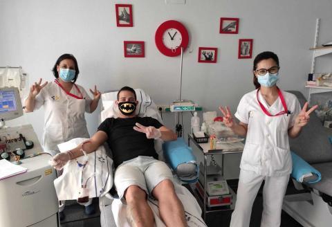 punto de donación de sangre