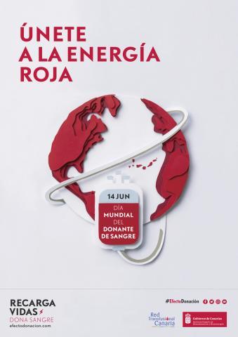 cartel del Día Mundial del Donante de Sangre