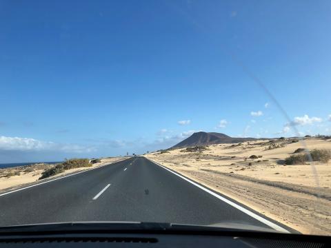Carretera de Corralejo. Fuerteventura