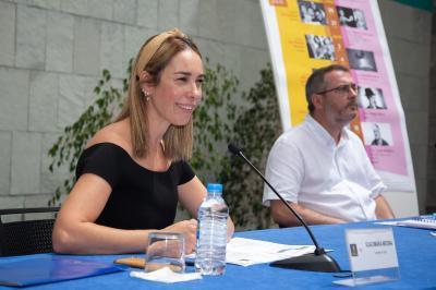 Guacimara Medina, consejera de Cultura y Gonzalo Ubani, director artístico del CAAM