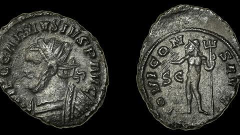 Moneda encontrada por Kevin Scillitoe