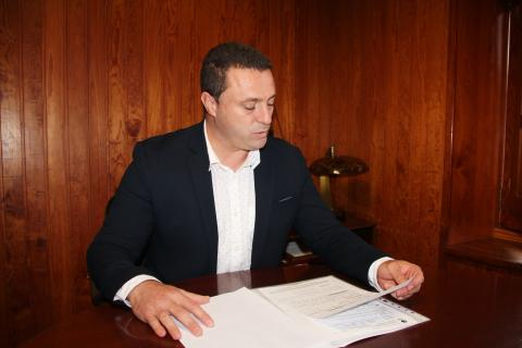 Óscar Noda, Alcalde de Yaiza. Lanzarote