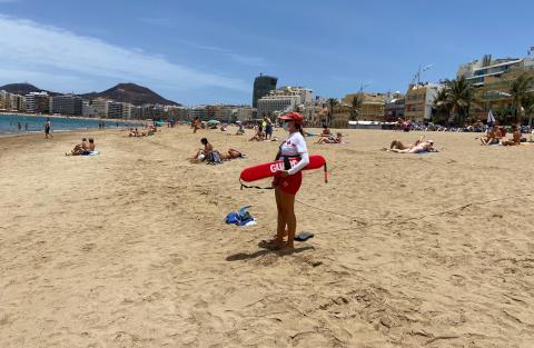 Socorrista en la Playa de Las Canteras. Gran Canaria