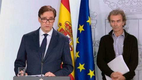 Salvador Illa y Fernando Simón